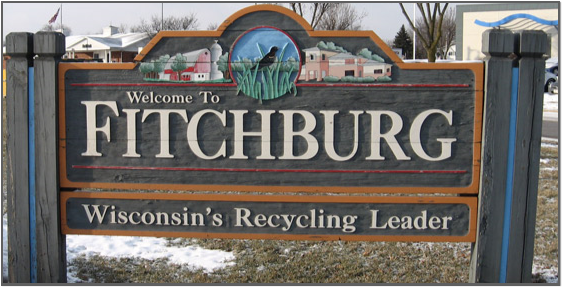 City of Fitchburg sign - winter