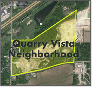 Location of the Quarry Vista Neighborhood